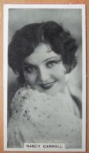 Nancy Carroll, Cigarette Card, Godfrey Phillips, Cinema Stars, 1930 card #18